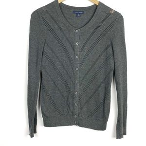 Tommy Hilfiger Grey Long-sleeve Cardigan XS